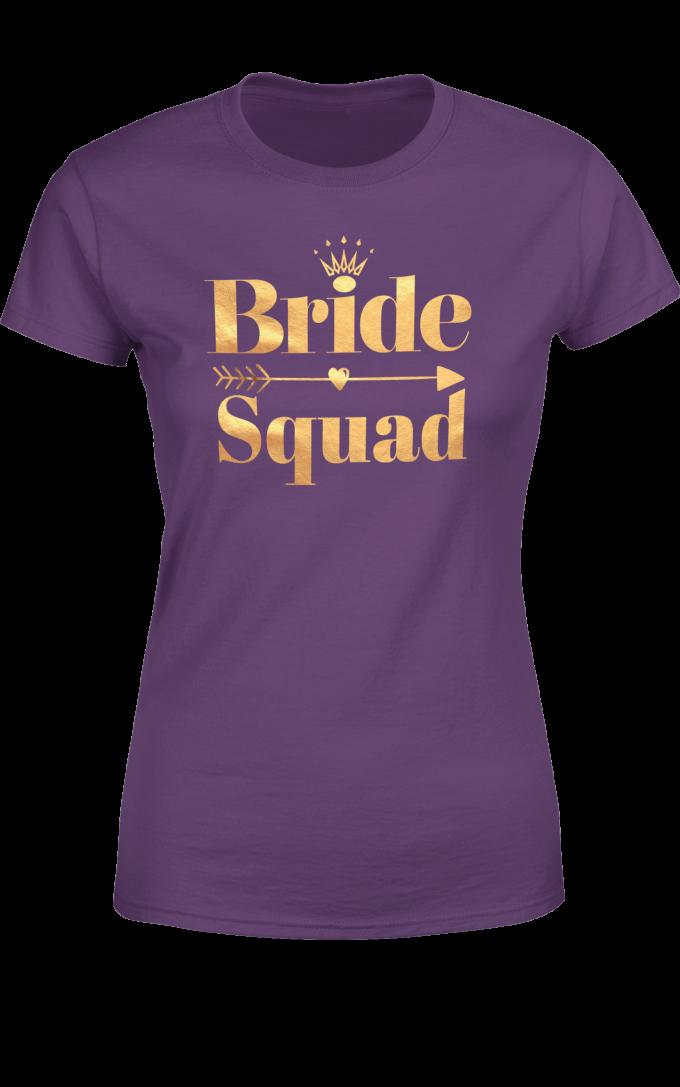 Тениска за Моминско Парти Bride Squad / Отбора на Булката