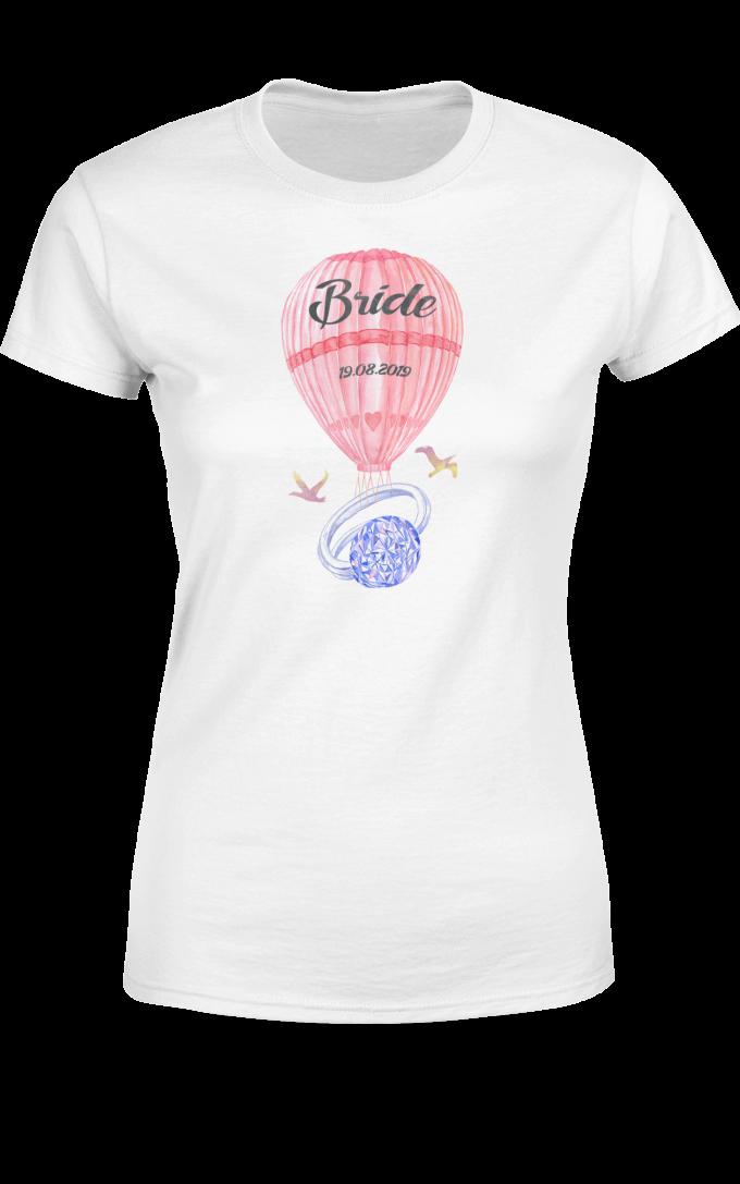 Тениска за моминско парти - Диамантен пръстен за Булката
