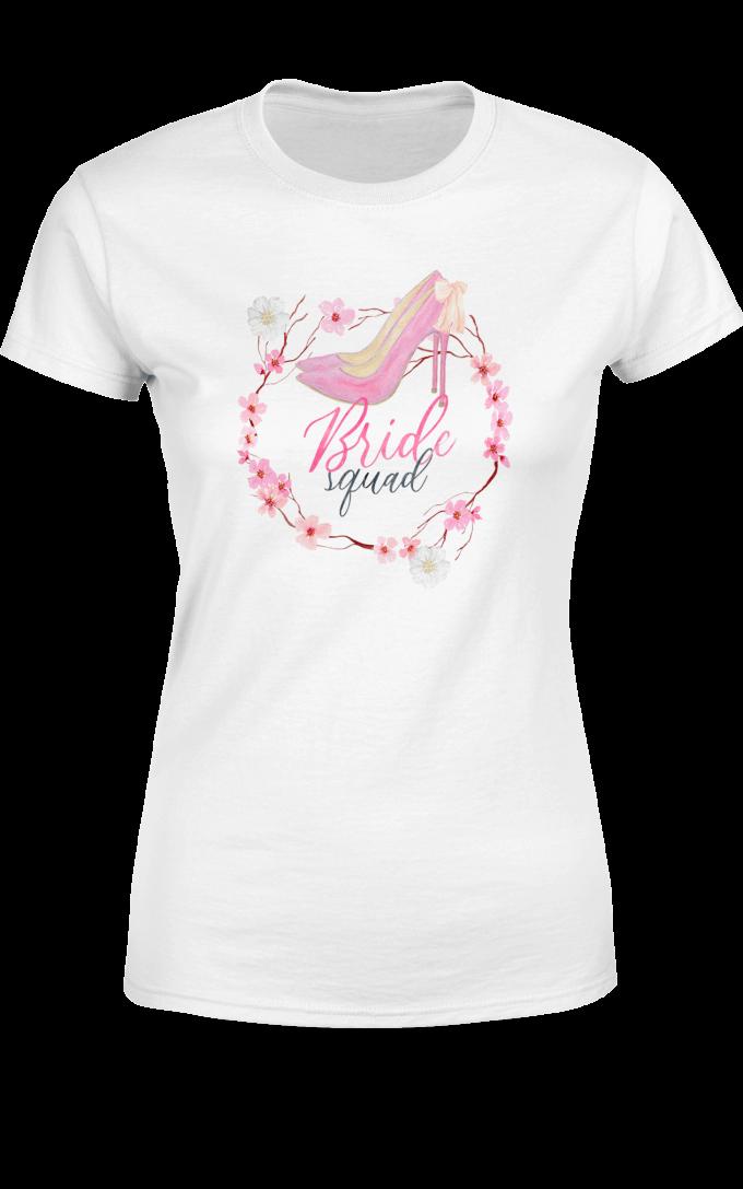 Тениска за моминско парти с високи токчета за Гостите