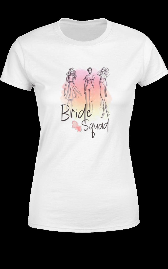 Тениска за моминско парти Bride squad